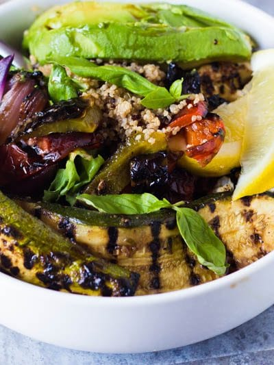 Balsamic Roasted Vegetable Quinoa Bowl