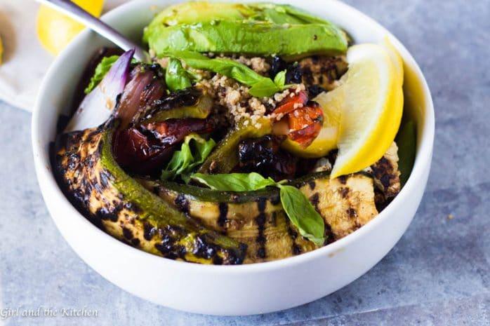Balsamic Roasted Vegetable Quinoa Bowl