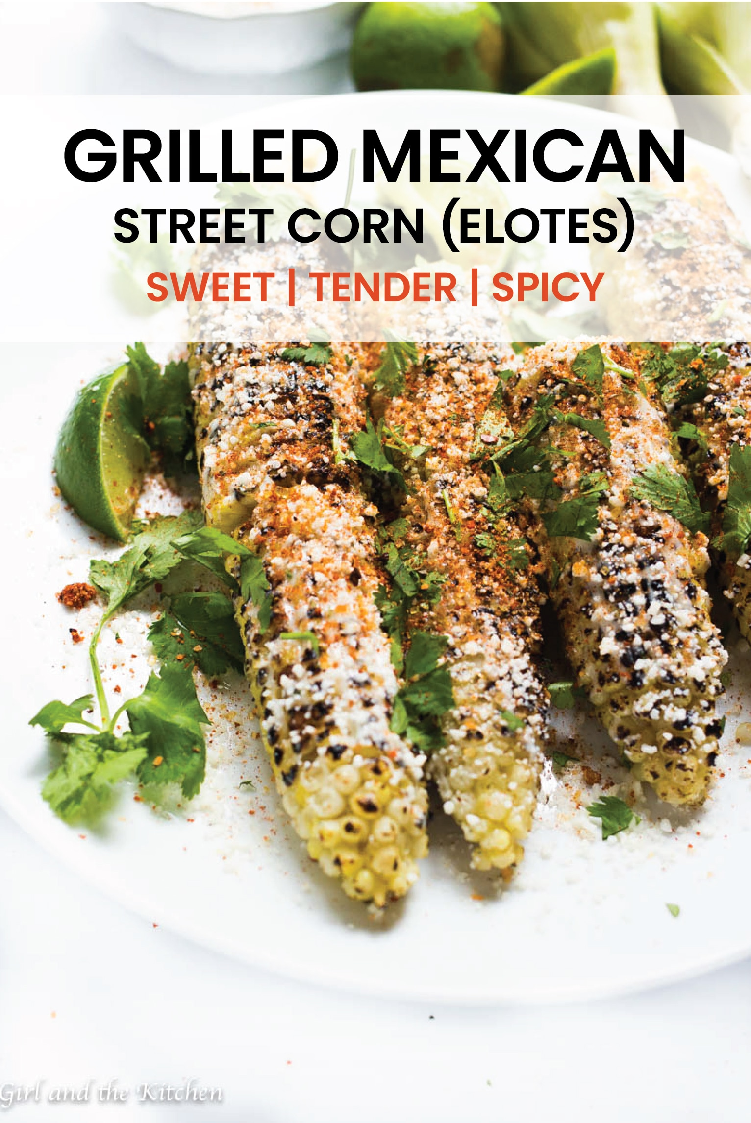 Sweet, tender and spicy! These Mexican Street Corn is all of it!  It is full of vibrant colors and bold flavors and will turn your summer BBQ into a fiesta! #sweetcorm #spicy #fiesta