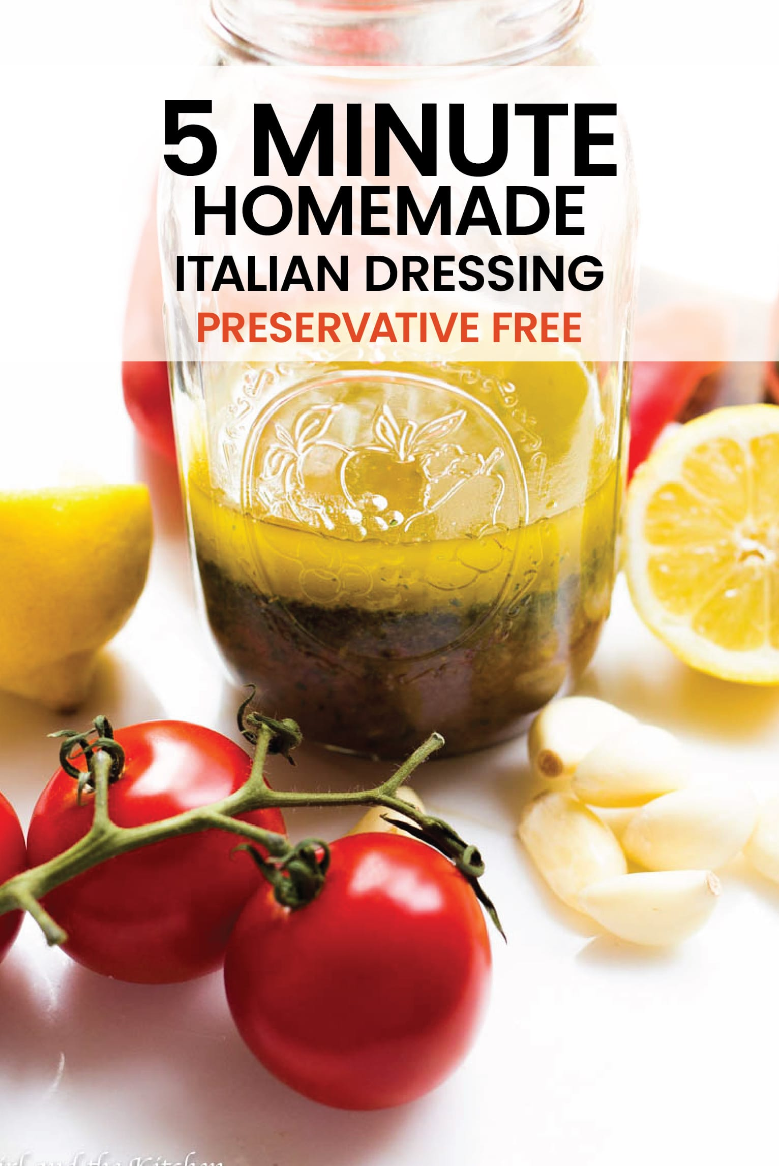 Forget the store-bought, bottled stuff!  Create your own homemade Italian dressing in only 5 minutes!  #dressing