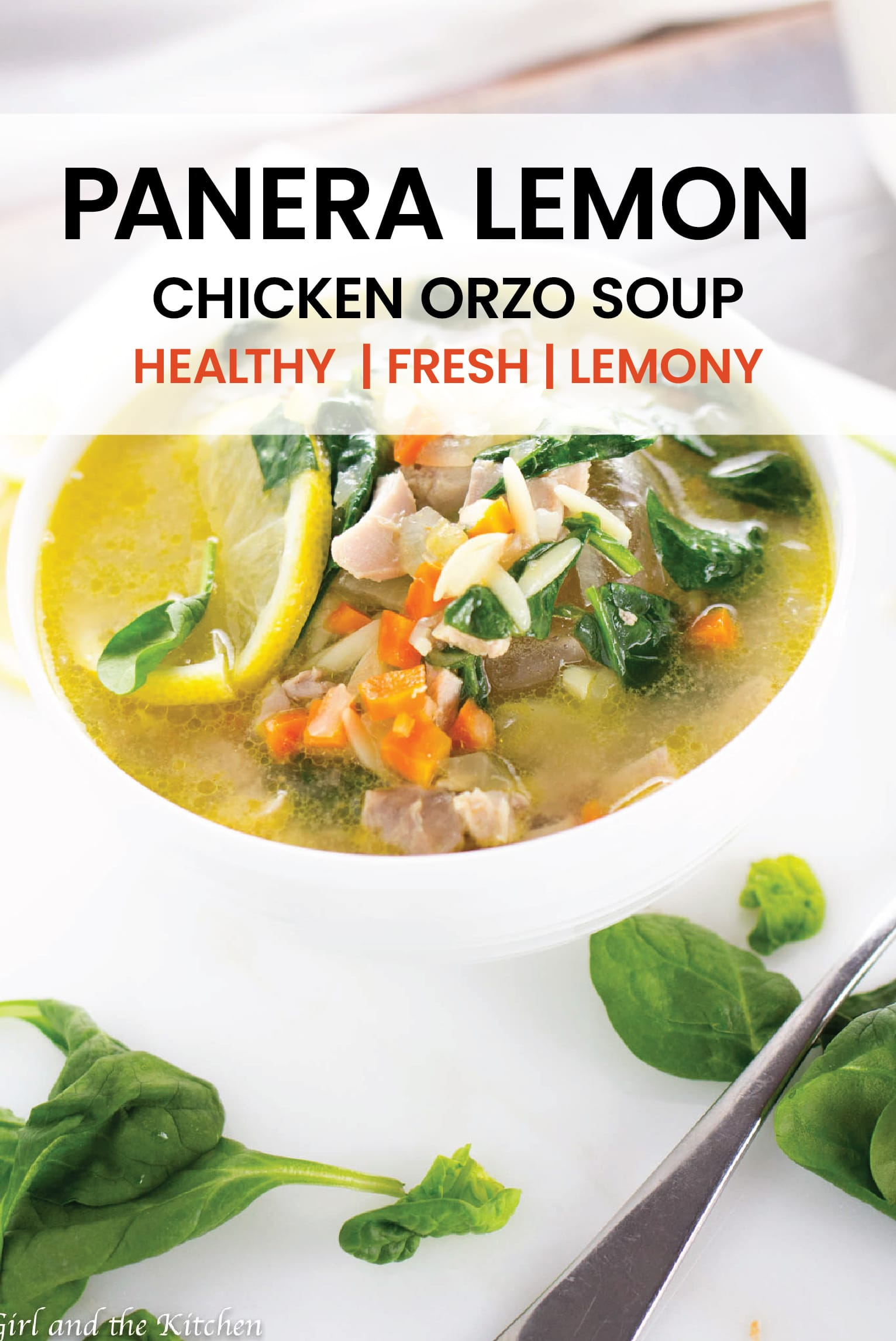 A perfect take on the popular Panera Lemon Chicken Orzo soup!