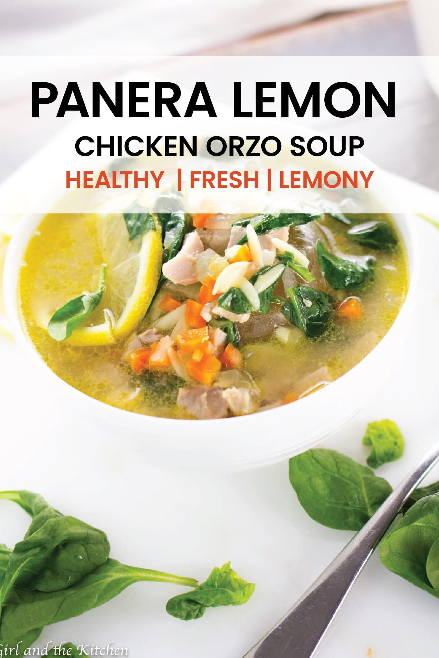 A perfect take on the popular Panera Lemon Chicken Orzo soup!