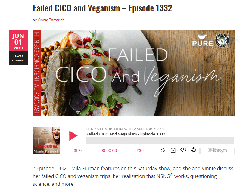 Podcast cover for Failed CICO and Veganism