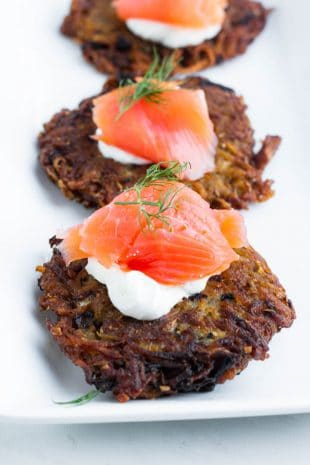 Everyone teaches how to make latkes differently. But my way makes things easier, faster and best of all crispier! My easy 5 tips tedious latke making is a thing of the past!