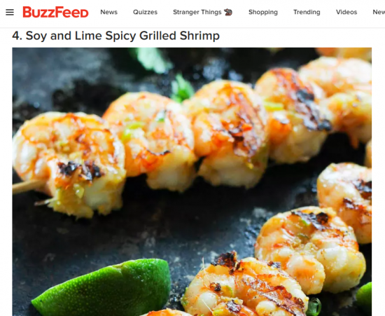 soy and live spicy grilled shrimp buzzfeed