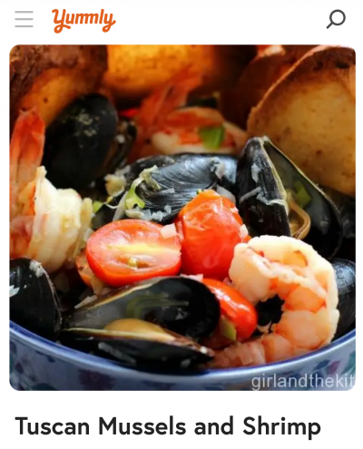 yummly tuscan mussels